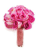 Wedding bouquet from roses for bride isolated on white backgroun — Stock Photo