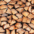 Woodpile from dry oak logs — Stock Photo