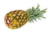 Ripe whole pineapple isolated on white background. — Stock Photo