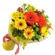 Stock fotografie: Bouquet from gerberflowers isolated on white background.