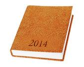 Izolowanie 2014 pamiętnik książka na białym tle. — Zdjęcie stockowe