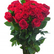 Flower bouquet from red roses isolated on white background. — Stock Photo #41300917