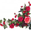 Bouquet from artificial red roses isolated on white background. — Stock Photo #41543475