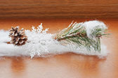 Christmas decoration on wooden background. — Foto Stock