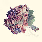 Bouquet from flowers with retro filter effect. — Stockfoto