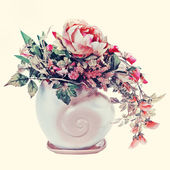 Bouquet from flowers with retro filter effect. — Zdjęcie stockowe