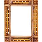 Bamboo frame isolated on white background. — Stock Photo #44469951