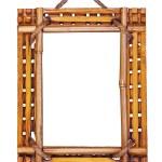 Bamboo frame isolated on white background. — Stock Photo #44470001