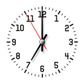 Wall clock isolated on white background. — Stock Photo