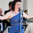 Swing Band Vocalist — Stockfoto