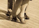 Dancing feet — Stock Photo