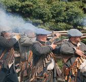 Fierce gun fight — Stock Photo