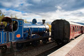 Caley 828 pulls into station — Stock Photo