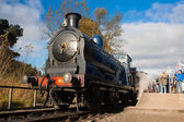 Caley 828 steam locomotive — Stock Photo