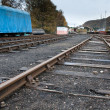 Empty railway yard — Stock Photo