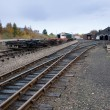 Stock Photo: Empty railway yard