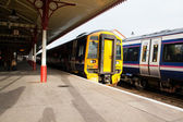 Two Scotrail trains in Aviemore Station — Stock Photo