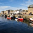 Burghead harbour, Scotland - Stock Photo