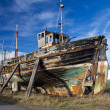 Dilapidated old boat — Stock Photo