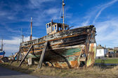 Dilapidated old boat — Foto Stock