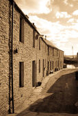 Quaint Orkney lane — Stockfoto