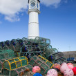 Kirkwall harbour lighthouse — Stock Photo