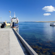 Boats docked in Shapinsay - Stock Photo