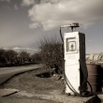 Vintage petrol pump — Stock Photo