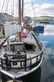 Boat in Kirkwall harbour — Stock Photo