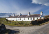 Traditional Scottish cottages — Stock Photo