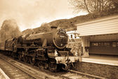 Steam train at Goathland — Stock Photo