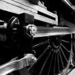 Steam train details — Stock Photo