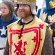 Scottish Knight in battle dress — Stock Photo