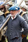 Historic Scottish soldier — Stock Photo