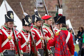 Redcoat soldiers — Stock Photo