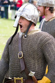 Knight in chainmail — Stock Photo