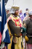 Scottish Knight in battle dress — Stock Photo