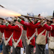 Redcoat soldiers firing rifles — Stock Photo #30533951