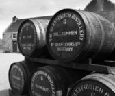 Glenfiddich distillery welcome barrels — Stock Photo
