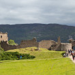 Tourists at Urquhart Castle — Stock Photo #32073281
