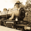 Vintage steam train — Stock Photo