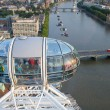 Stock Photo: London Eye overlooking Thames