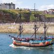 Уитби туристической лодке — Стоковое фото