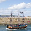 Whitby tourist boat tour — Stock Photo