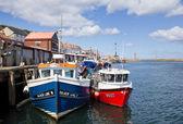 Whitby fishing boats — Stock Photo