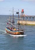 Whitby boat tour — Stock Photo