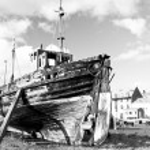 Постер, плакат: Old wooden boat