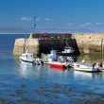 Portmahomack harbour, Scotland — Stock Photo #47800649