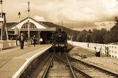 старинный паровоз — Стоковое фото