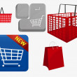 Shopping cart icon — Stock Vector